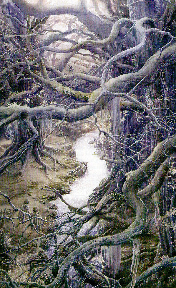 Alan lee 39 s lord of the rings artwork for Lee s painting