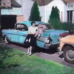 Mary Lynne and Ann on the 57 Chevy